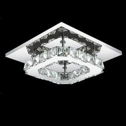 Square LED Crystal <font><b>Chandelier</b></font> <font><b>L