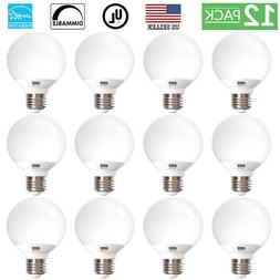 SUNCO 12 PACK G25 LED LIGHT BULB VANITY 6W  450 LUMEN 3000K