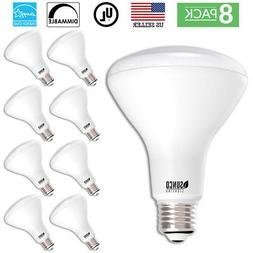 SUNCO 8 PACK BR30 FLOOD LED LIGHT BULB 11W 65W 850 LUMEN 500