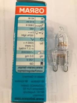 Osram Sylvania 40W 120V T4 G9 2-Pin Halogen Light Bulb - NEW