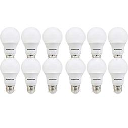 SYLVANIA, 60W Equivalent, LED Light Bulb, A19 Lamp, 12 Pack,