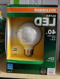 SYLVANIA Ultra LED 5.5w 450 Lumens Vanity Light Bulbs Soft W