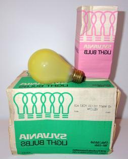 Sylvania  Yellow Light Bulbs 40 Watt 115 - 125 Volt 6 pack I