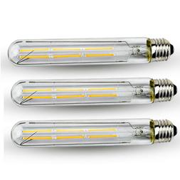 T10 Tubular LED Filament Bulb 6W Dimmable E26 Edison Tube Fi