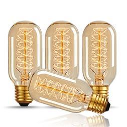 DORESshop T45 40W Vintage Antique Light Bulbs, Warm White, E