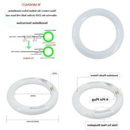 """T9 LED Circline Light Bulb 8 inch, 10W 6000K 1200LM, 8"""" LED"""
