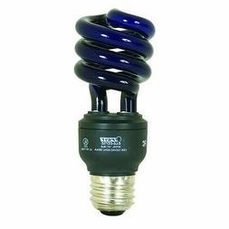 THREE - 13-Watt Compact Fluorescent Twist Bulbs , Black
