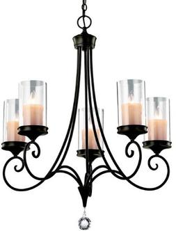 Kichler Transitional 5 Light Fixture Shadow Bronze