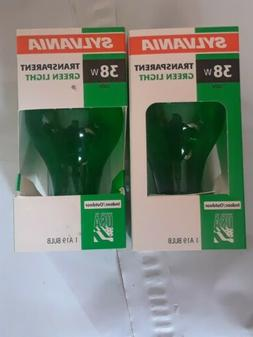 SYLVANIA 38 Watt Transparent Indoor/Outdoor Green Light Bulb