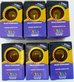 Transparent Yellow Light Bulbs Case of 6 Vintage Standard Ba