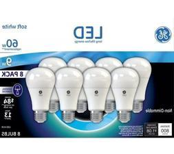 TWO 8 PACK GE LED 9w = 60w soft white light bulbs standard b