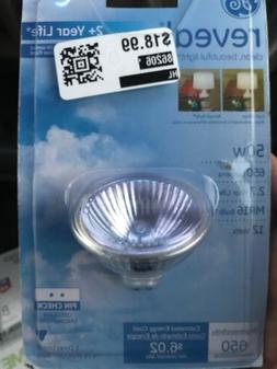 Two New GE 82110 Reveal 50W One Directional Halogen Light Bu