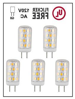 CBConcept UL-Listed, G8 LED Light Bulb , 5-Pack, 3 Watt, 310