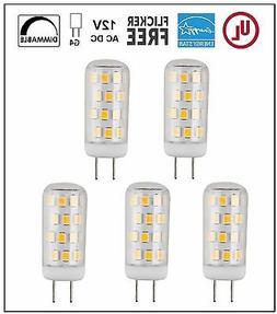 CBConcept UL-Listed G4 LED Light Bulbs, 5-Pack, 3W, Dimmable