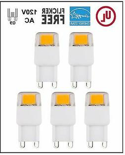 CBConcept UL-Listed, G9 LED Light Bulb, 5-Pack,Epistar COB 1