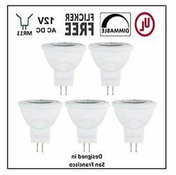 CBConcept UL-Listed MR11 GU4.0 LED Light Bulbs, 5-Pack,