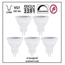 CBConcept UL-Listed MR11 GU4.0 LED Light Bulbs, 5 Pack, Warm