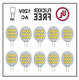 CBconcept UL Listed SidePin G8 LED Light Bulb, 10