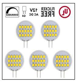 CBConcept UL-Listed, Side-Pin G4 LED Light Bulb, 5-Pack, 1.8