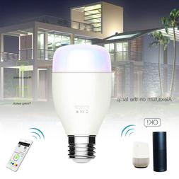 US E26 Smart Phone Color Light Bulb WiFi for Amazon Alexa/Go