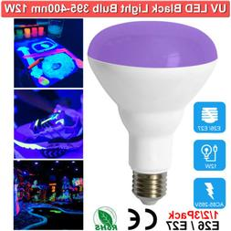 12W Black Light Bulbs UVA Glow in The Dark Party Neon Glow N