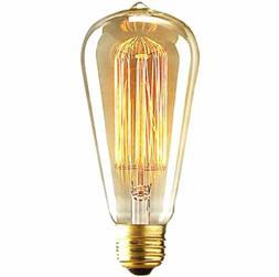 Vintage EDISON 110V 25W Watts Incandescent Filament Lights S