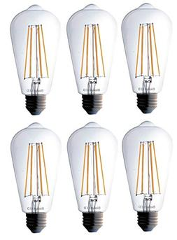 Bioluz LED Vintage Edison LED Bulb, Dimmable 7W ST64 Antique