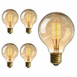 KINGSO Vintage Edison Bulb 60W Incandescent Antique Dimmable