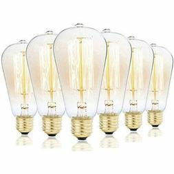 Vintage Edison Bulbs, Rolay 60w Clear Glass Dimmable Vintage