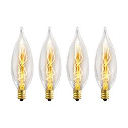 Globe Electric 1327 25W Vintage Edison CA10 Flame Tip Incand