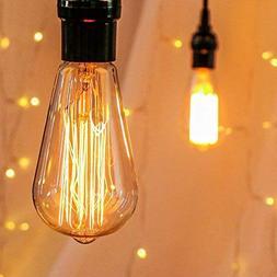 6-Pack Vintage Edison Light Bulbs-60W E26/E27 Base Dimmable