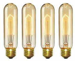 CTKcom Vintage Edison T10 40W Light Bulbs w/E26 E27 Base-Tub