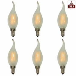 Vintage Frosted Candelabra E12 Small Base Dimmable LED Light