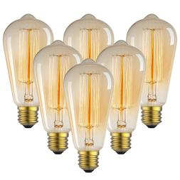 Vintage Incandescent Edison Light Bulbs 60W Antique Filament