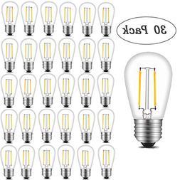 INNOCCY Vintage S14 LED Light Bulbs, 2W 200 Lumens 2700K Sof