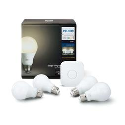 Philips Hue White 4 A19 60W Equivalent LED Smart Bulb Starte