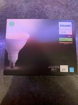 Philips Hue White Outdoor PAR38 13W Smart Bulbs , 1 White PA