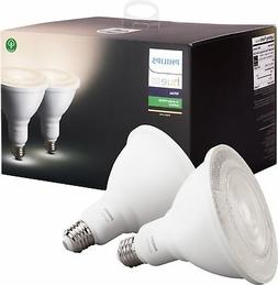 Philips Hue White Outdoor PAR38 13W Smart Bulbs , 2 White PA
