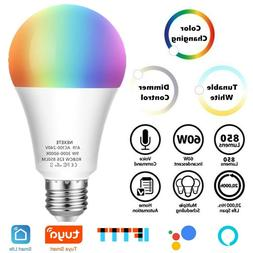 60W EQ A19 Dimmable Color Changing Smart Wi-Fi LED Light Bul