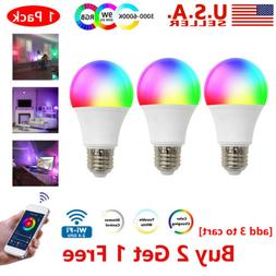 Wifi Smart LED light Bulb 10W A19 850LM RGBW Dimmable for Al