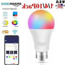 ⭐9W E27 B22 Wifi Smart Multi-Color LED Lamp Bulb Amazon Al