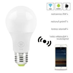 Wifi Smart LED Light Bulb W/Amazon Alexa Google Home App Rem