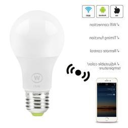 Wifi Smart LED Light Bulb W/Amazon Alexa Google Home App Rem