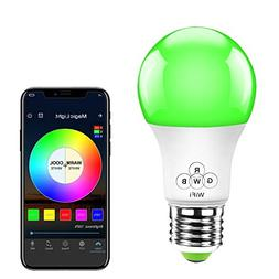 MagicLight WiFi Smart Light Bulb, Dimmable, Multicolor, Wake