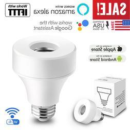 wifi smart light bulb socket adapter e27