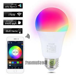 WiFi Smart Light Bulbs Multi-Color LED E26 E27 Lamp For Goog