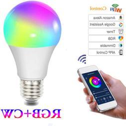 WiFi Smart Light Bulbs Switch LED E27 Lamp For Google Home/A