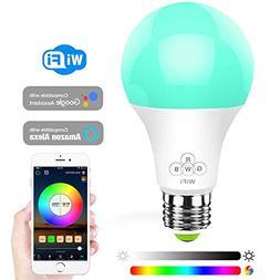 Konxie LED WiFi Smart Lights Bulb, Compatible with Alexa and