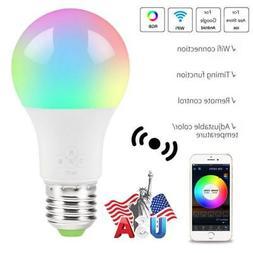 wifi smart multi color led light bulb