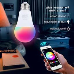 Wifi Smart Multi-Color LED Light Bulb for Amazon Alexa/Googl